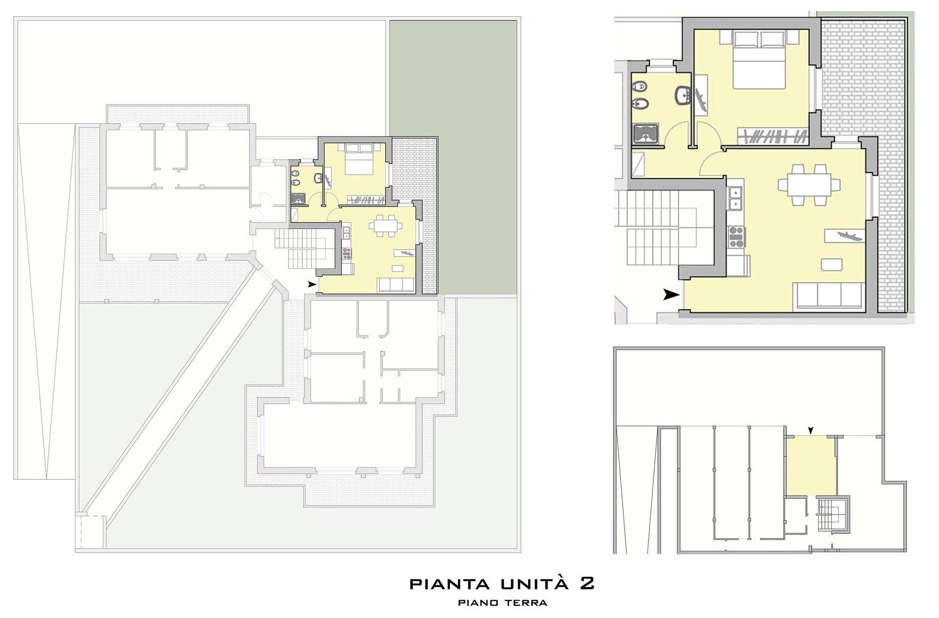 nuovo bilocale con giardino in corso di costruzione a Oltrona San Mamette