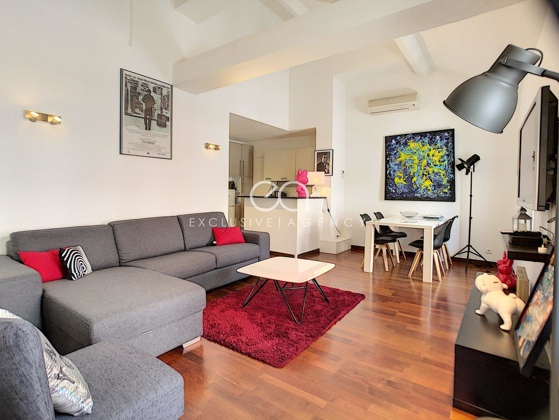 MONTHLY RENTAL IN CANNES CROISETTE 1-BEDROOM APARTMENT ON DUPLEX
