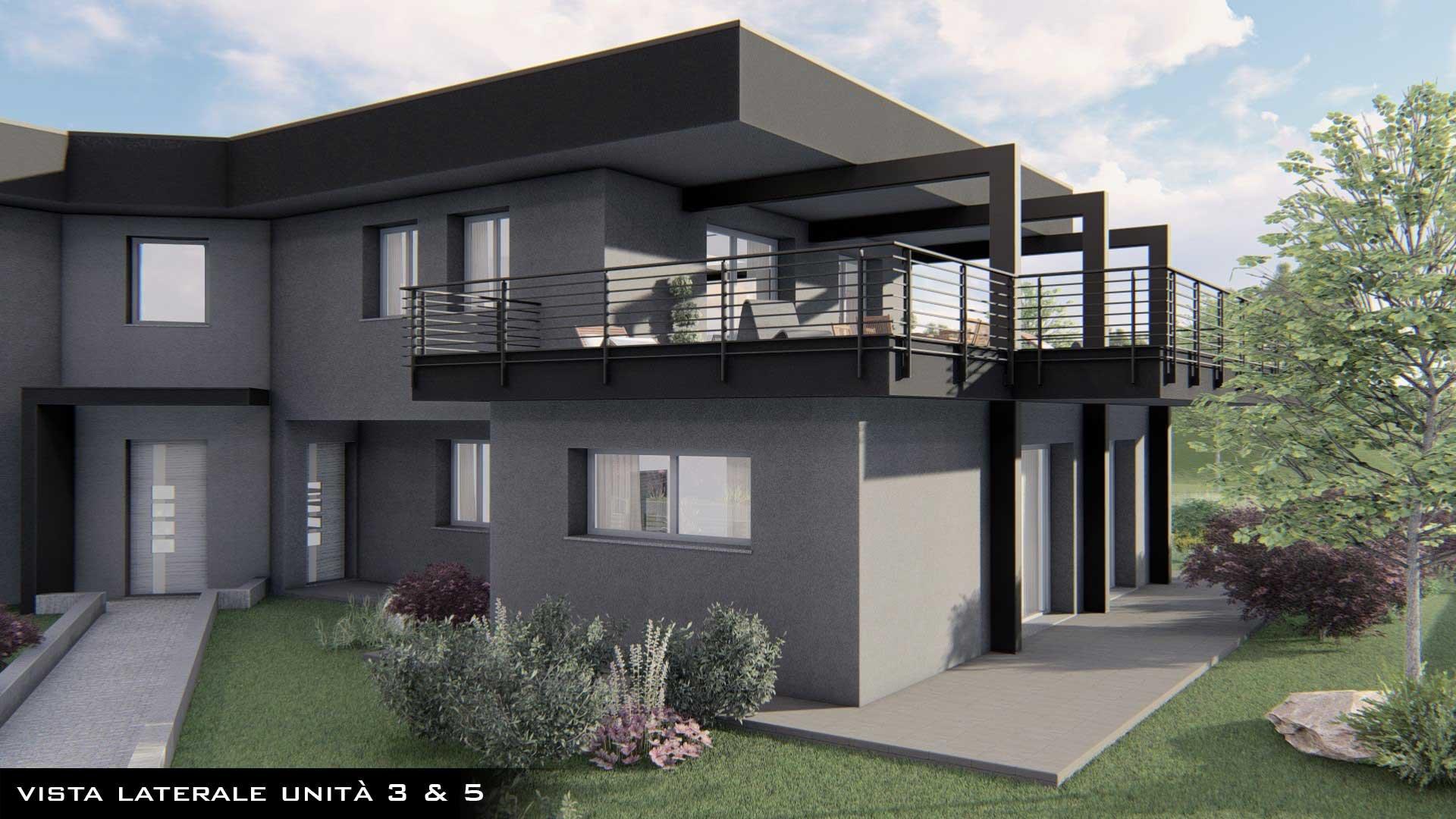 nuovo quadrilocale con giardino in corso di costruzione a Oltrona San Mamette
