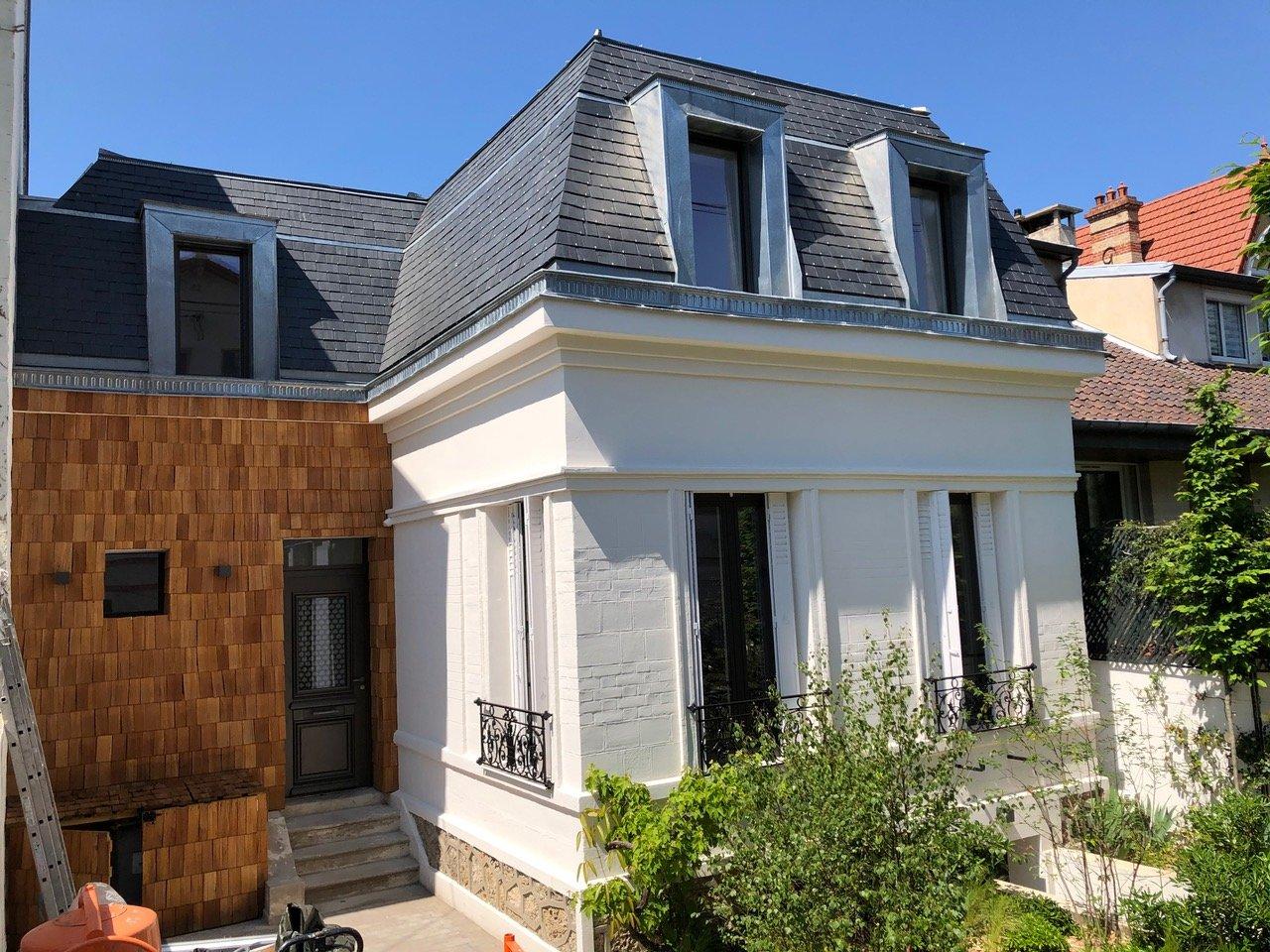 Chatou bas, dans le triangle d'or, maison ancienne rénovée au calme, à 8 min à pied de la gare.