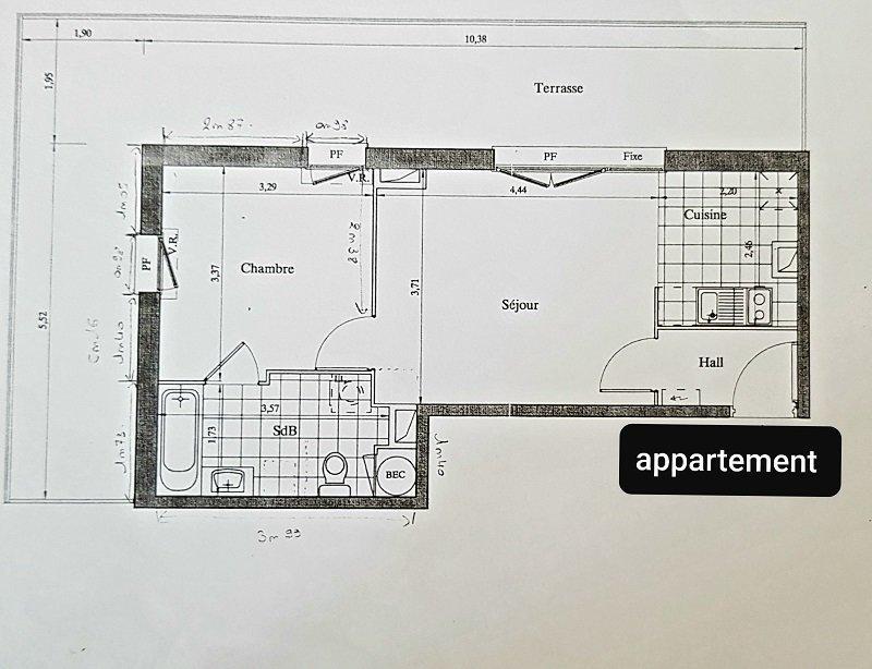 APPARTEMENT AVEC TERRASSE ET GARAGE - 41m2 - 2 pièces – Amiens