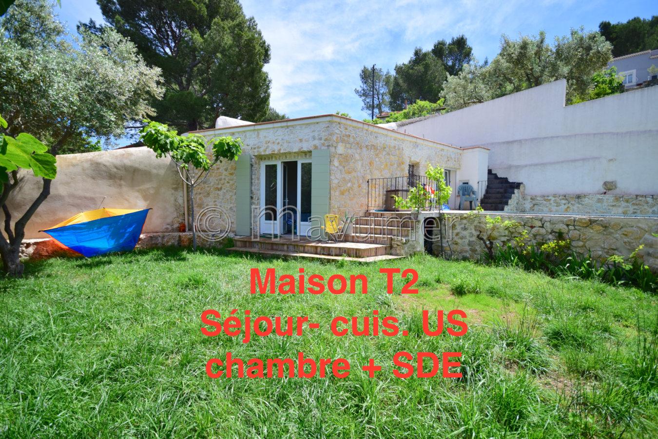 Maison T6 vue mer + studio et maison T2 indépendante 13009 Marseille Mazargues