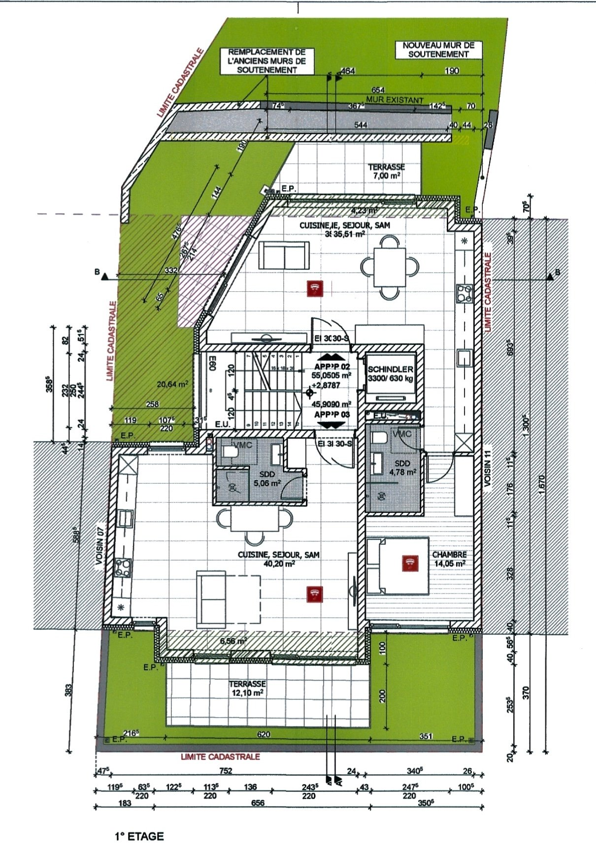 Vente Appartement - Luxembourg Neudorf - Luxembourg