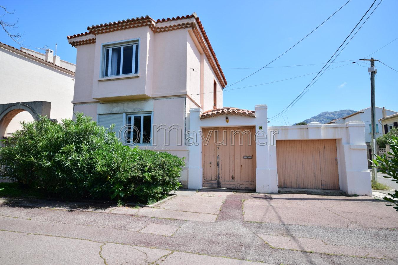 Maison T4 vue mer + garage 13008 Marseille Pointe Rouge