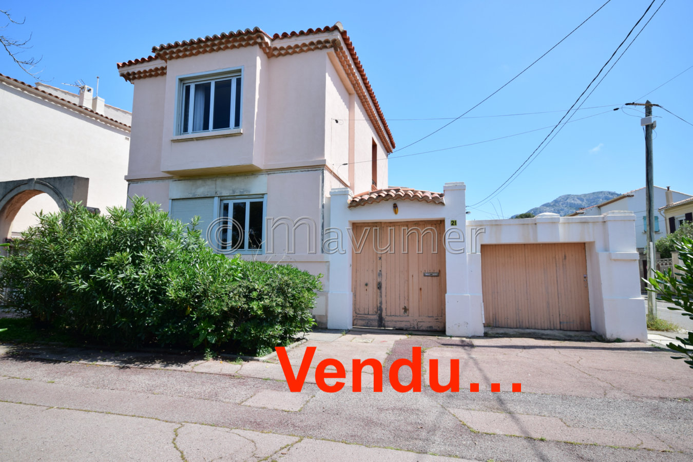 Maison T4 vue mer + garage 13008 Marseille Pointe Rouge