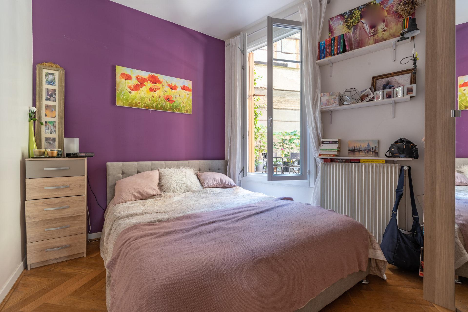 Paris - XVIII ème - MONTMARTRE - M° Lamarck/Joffrin - 4 Pièces TRAVERSANT - COMME UNE PETITE MAISON - 2 Chambres - TERRASSE - SOLEIL