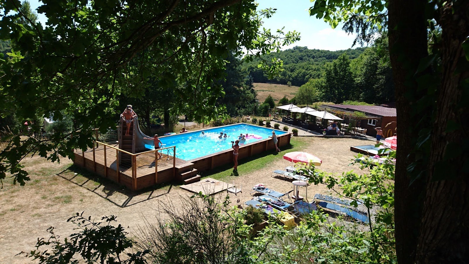 For sale in the Creuse, near Aubusson, a campsite and house.