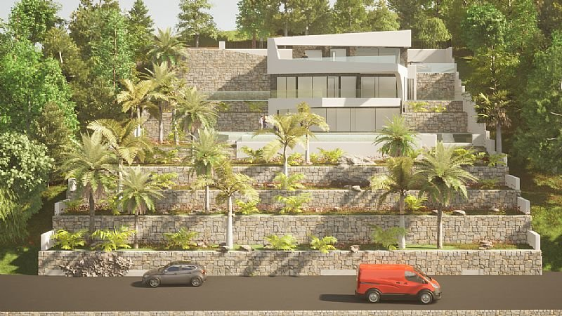 Newly built luxury villa with panoramic views