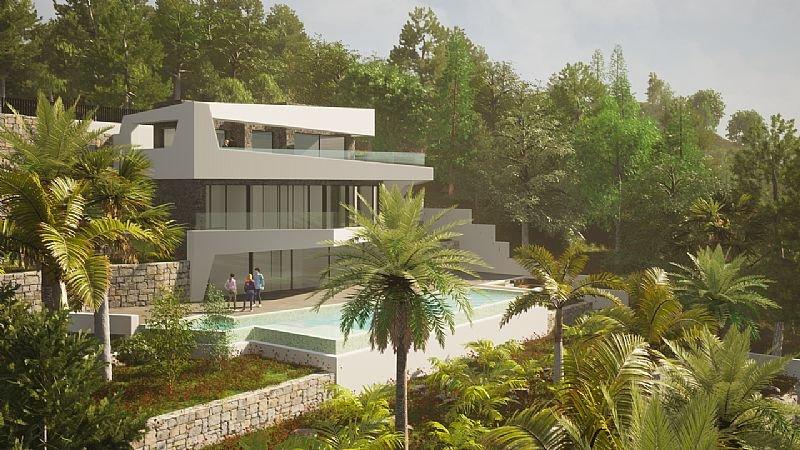 Nieuwbouw luxe villa met panoramische zichten