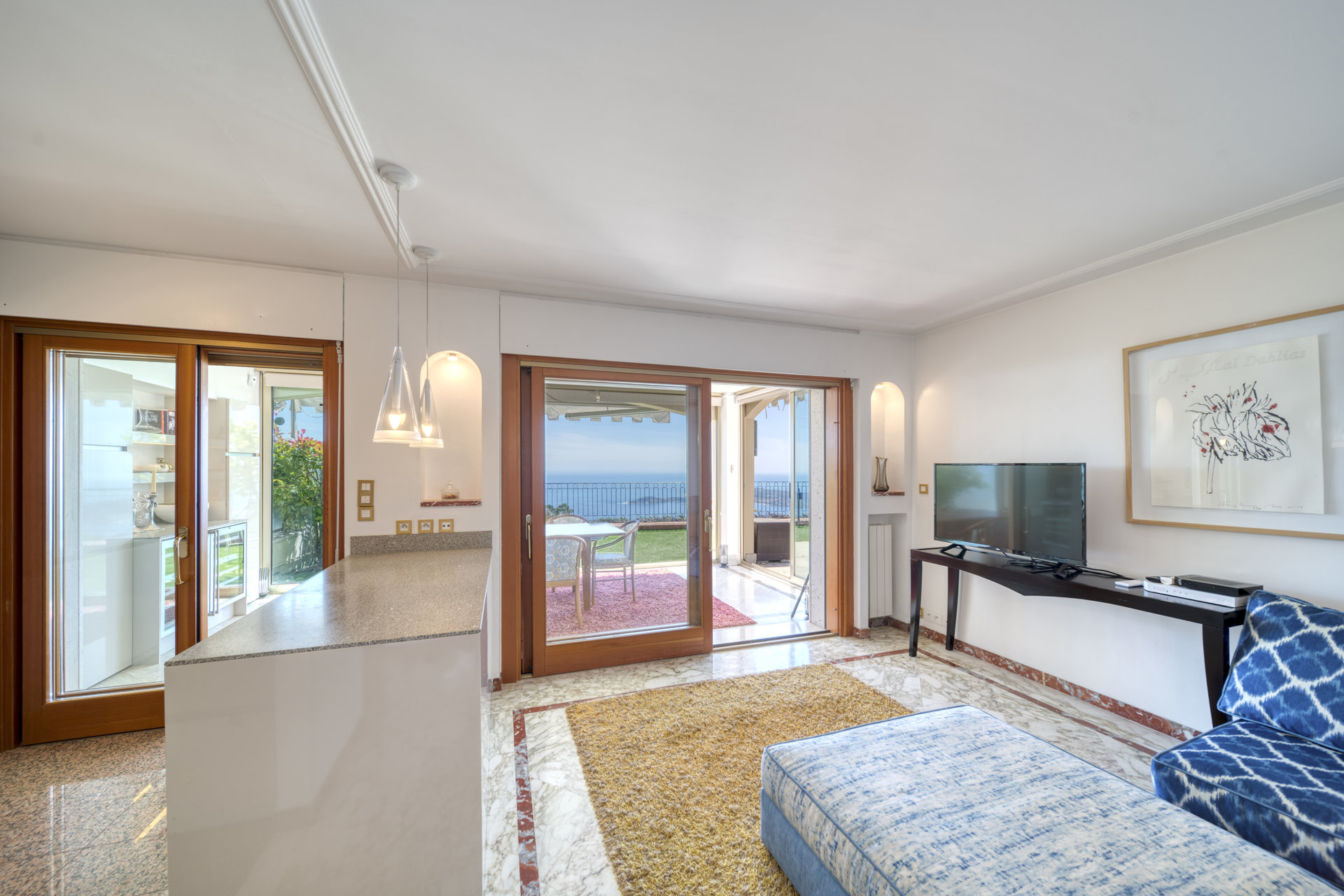 Eze - 3 rooms 78m2 sea view with terrace and garden of 100 m2