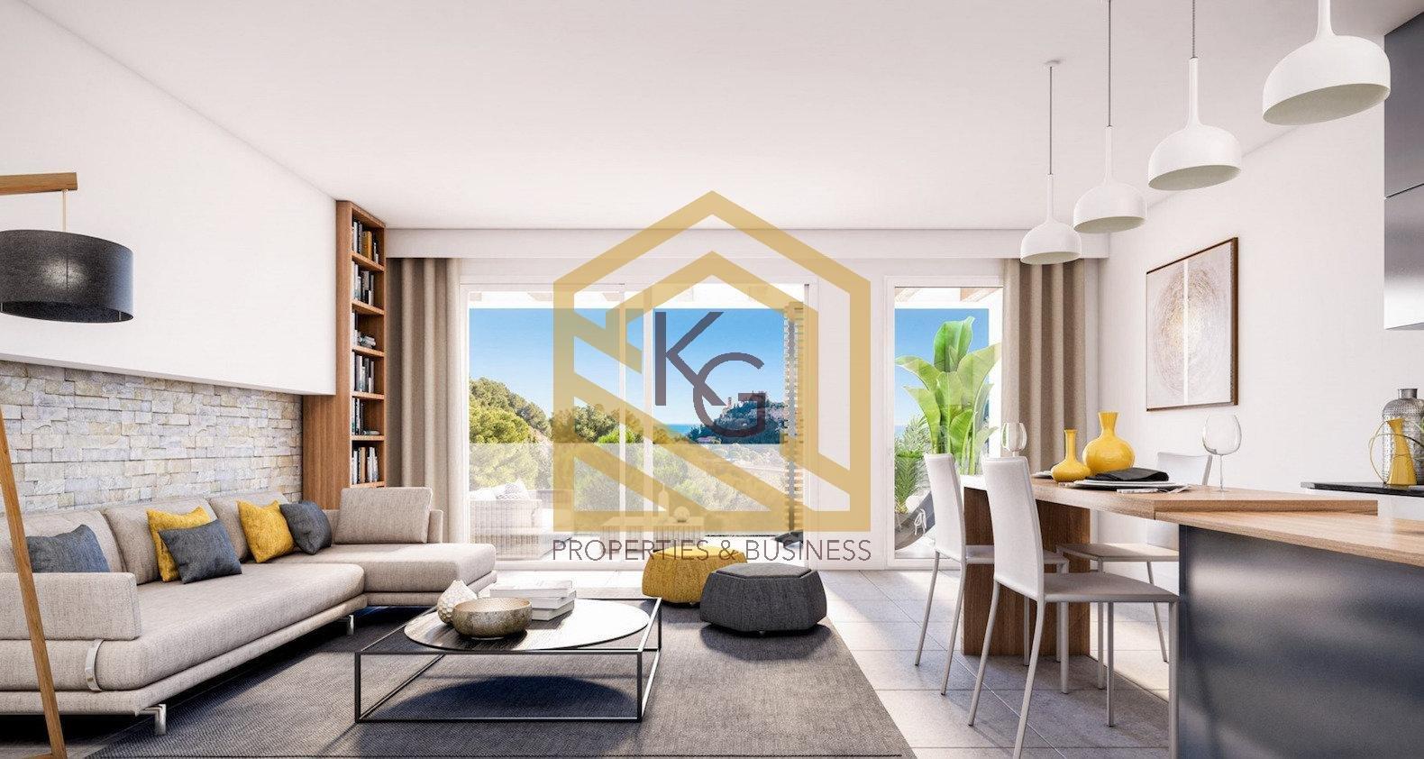 Èze, à vendre 4 pièces avec terrasse et jardin vue mer dans résidence neuve.