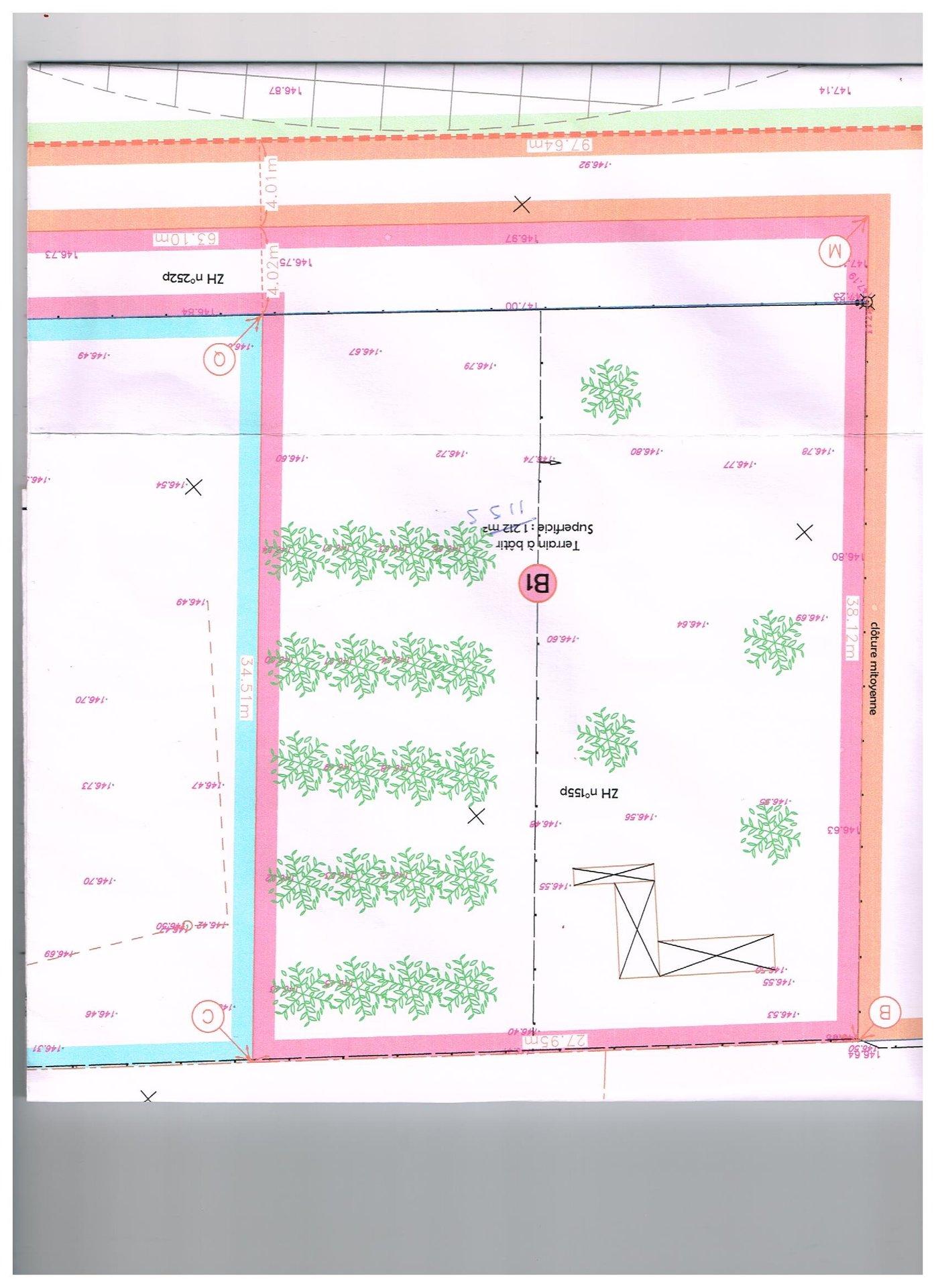 TERRAIN 1155 M² A AMFREVILLE LES CHAMPS