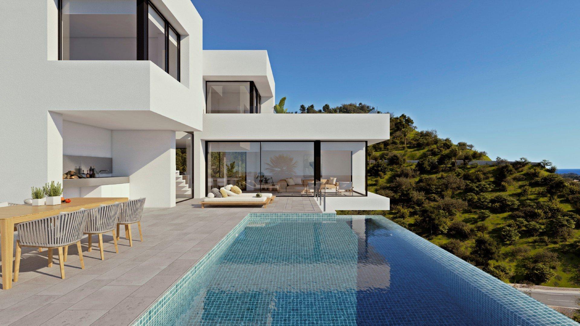 Luxe villa met open uitzicht op zee