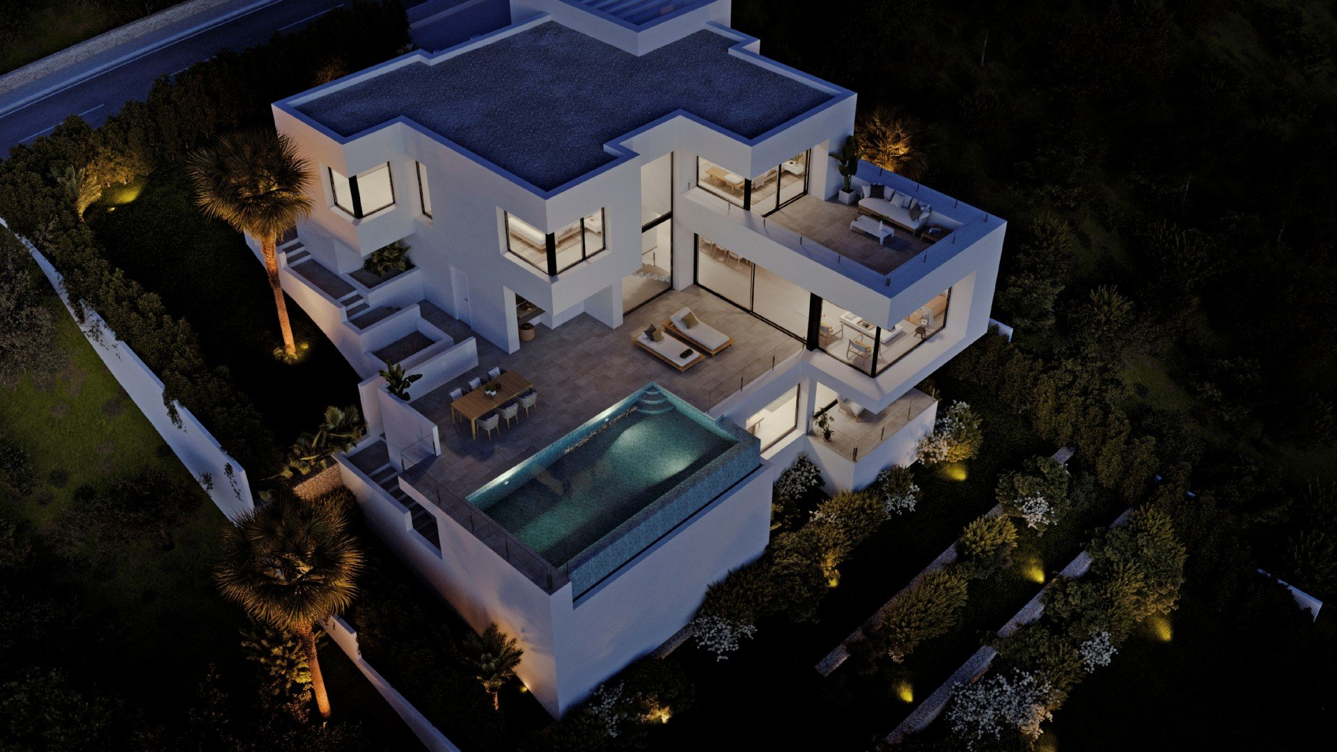 Villa de luxe avec vue dégagée sur la mer