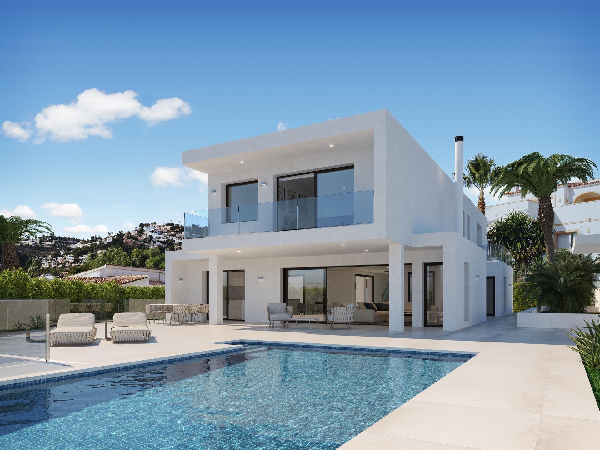 Construction de villas modernes à Moraira