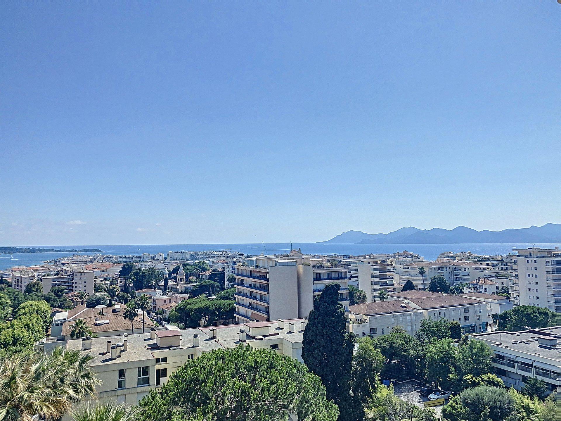 Cannes Basse Californie 3/4 p 121 m2 vue mer panoramique proximité Croisette