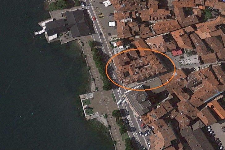 Renovated attic for sale on Verbania lakefront - localization