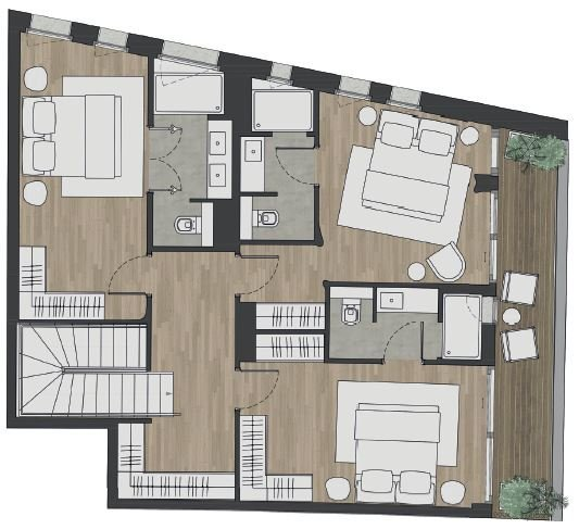 New Luxury Development - Large Duplex