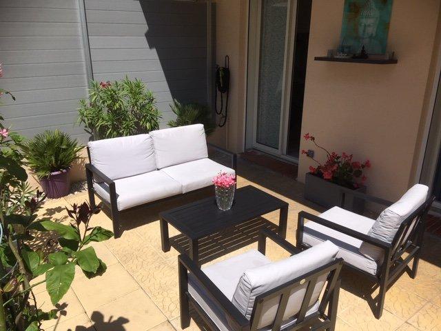 Lägenhet till salu i Cannes Palm Beach med stor terrass