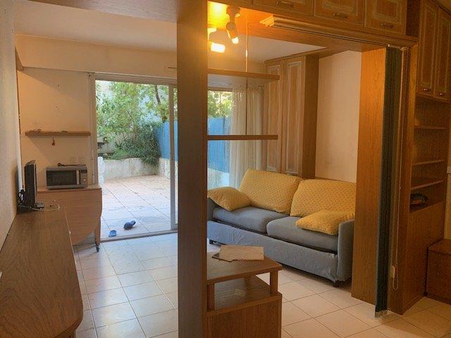 T1 de 28m² avec grande terrasse de 50m² et jardinet de 50m² - Cave- Calme