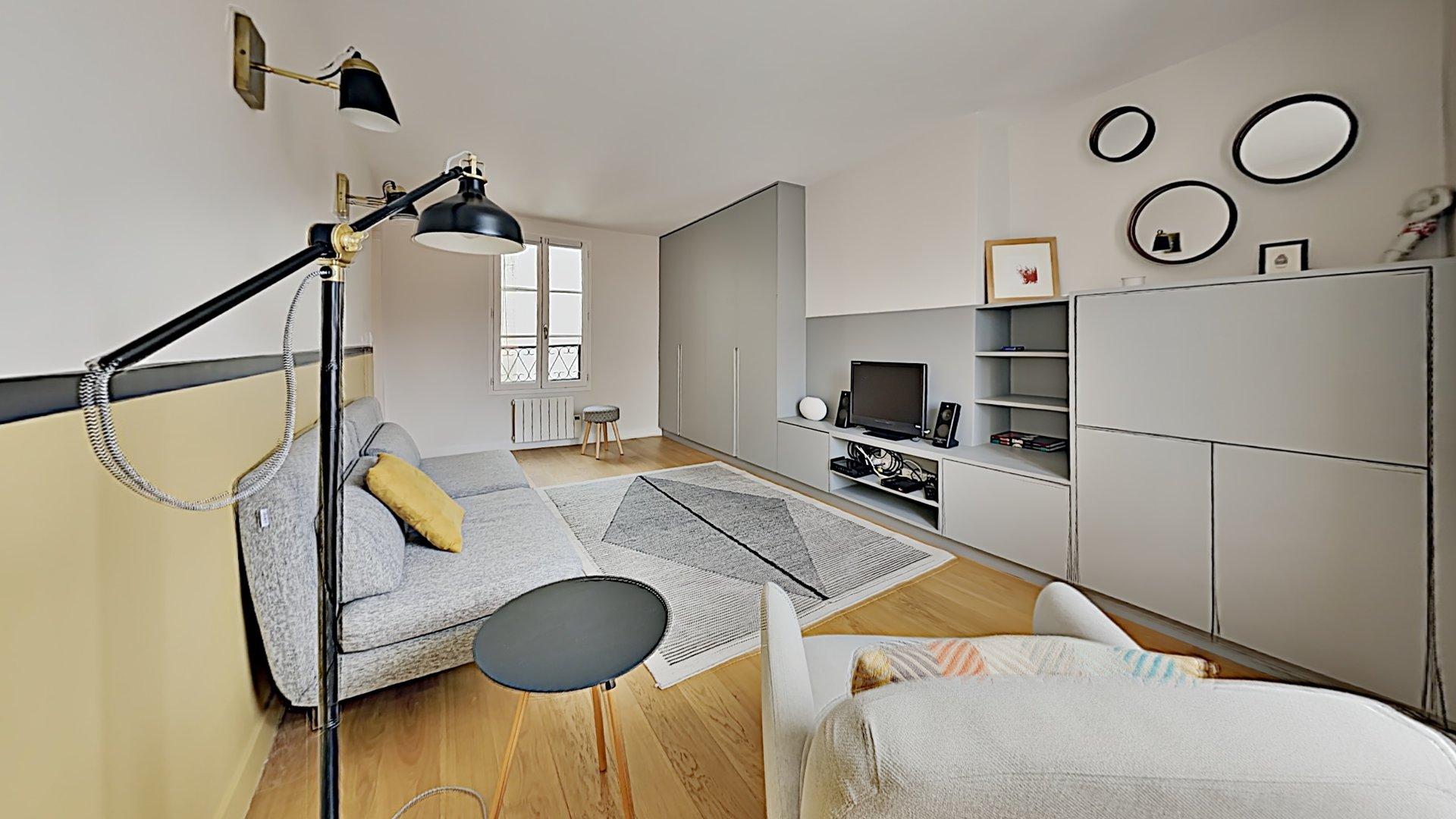 Appartement parisien équipé, proche métro