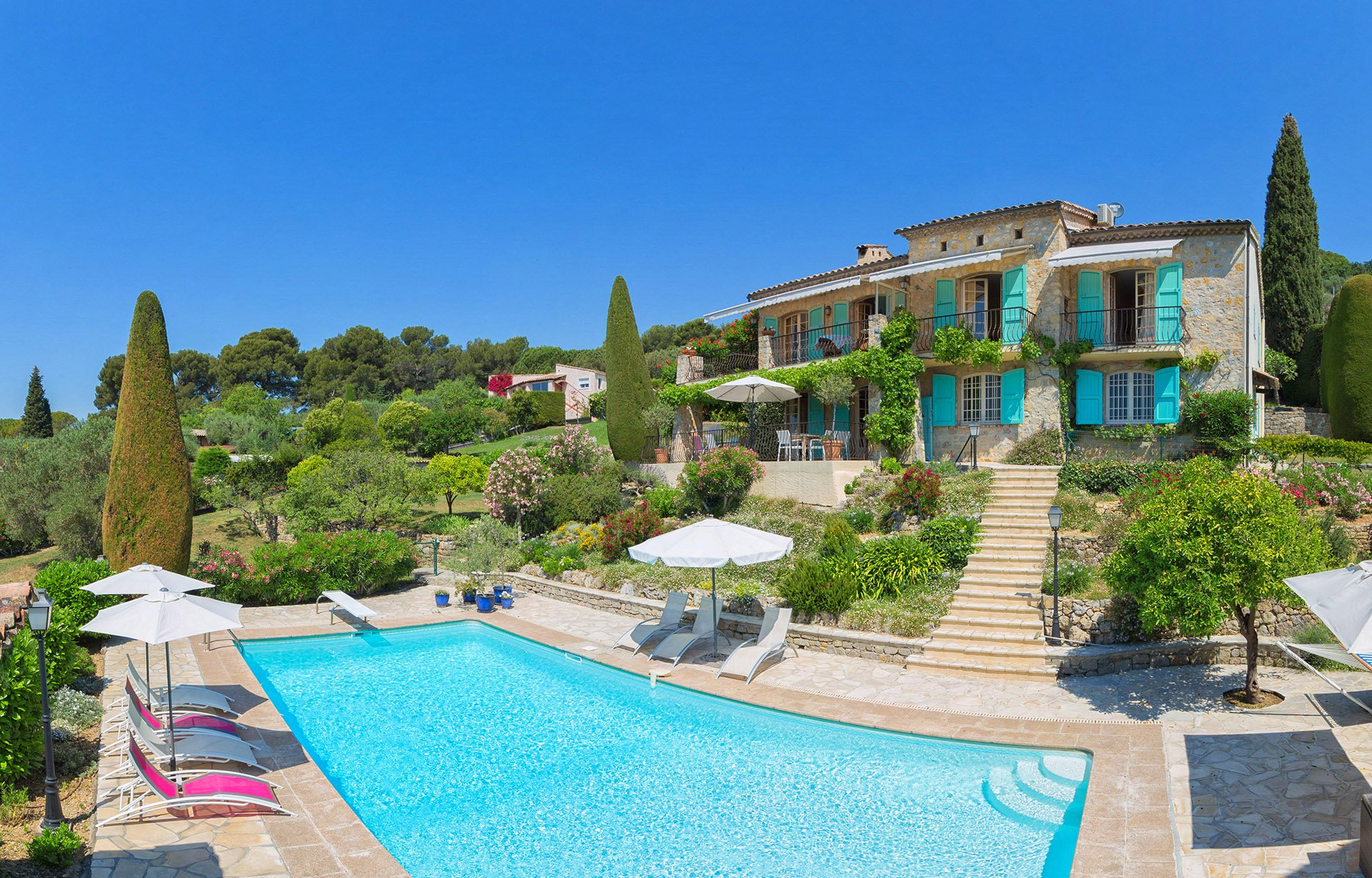 FOR SALE in MOUGINS -  - Panoramic Sea view from Lerins islands to Theoule Bay