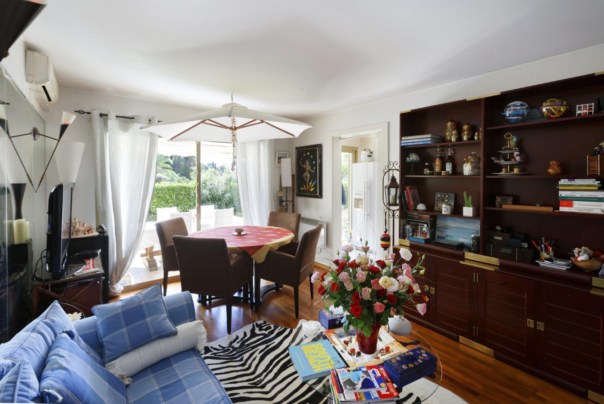 Grand studio ensoleillé en RDJ à proximité du parc naturel de la Croix des Gardes à Cannes