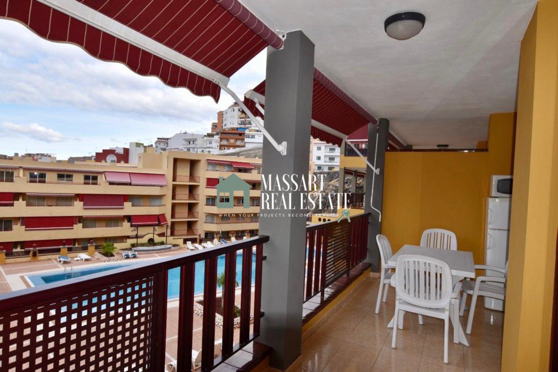 Te koop in Puerto De Santiago, gemeubileerd appartement van 65 m2, ideaal als tweede woning, als investering of zelfs als gewone woning.