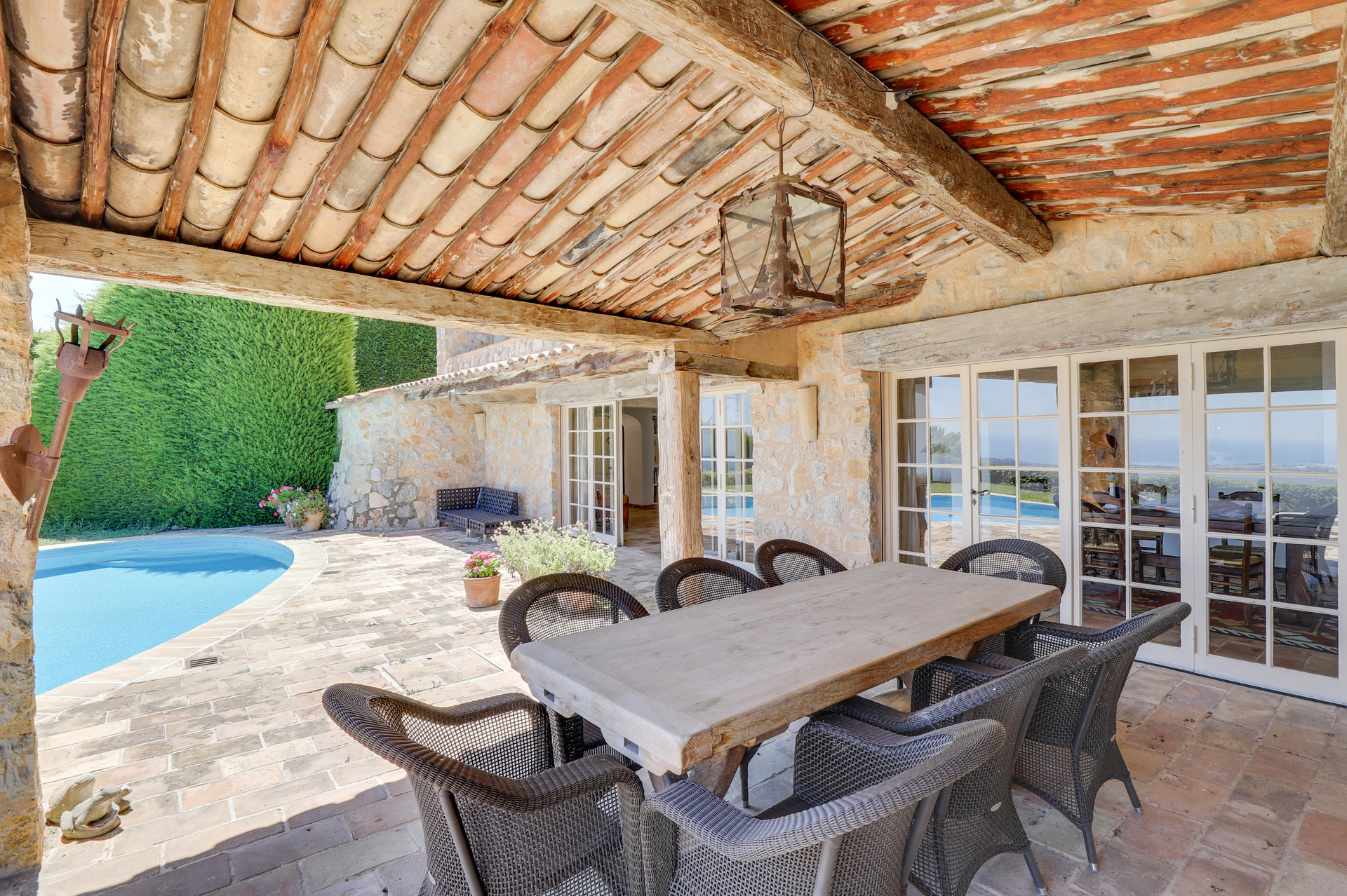 SOLE AGENT - Lovely Provencal stone house with seaview above Vence
