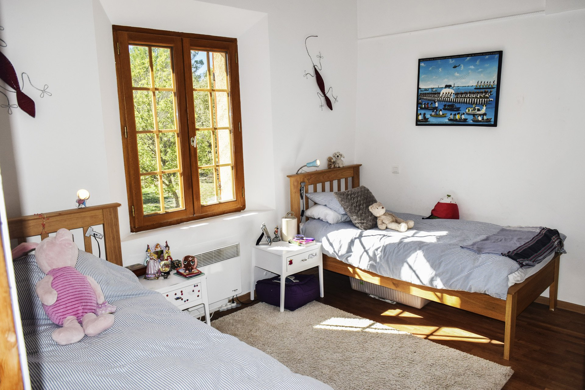 bedroom 2  old barn renovated on 8 ha, isolated aups var provence verdon