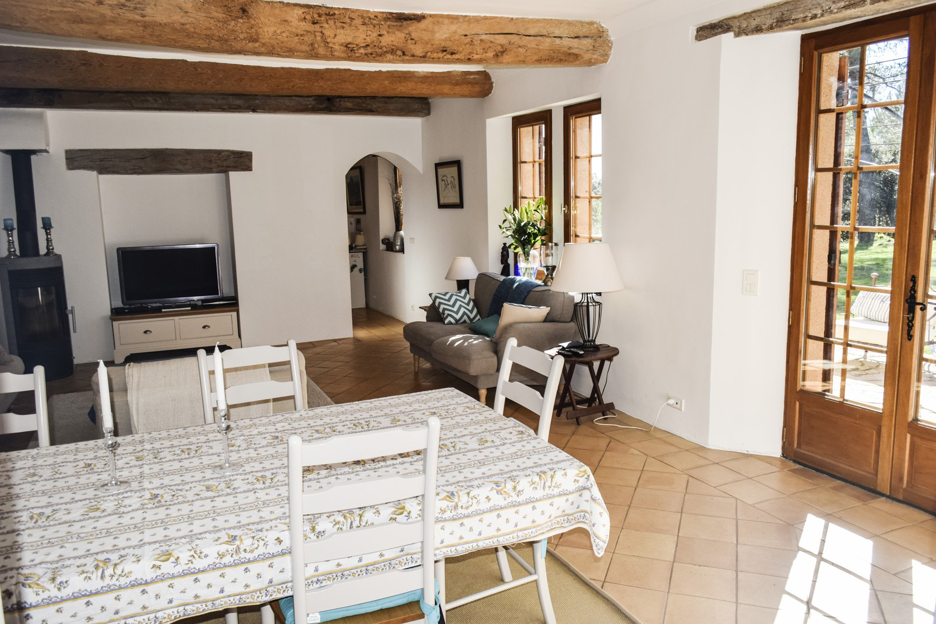 view from the kitchen old barn renovated on 8 ha, isolated aups var provence verdon