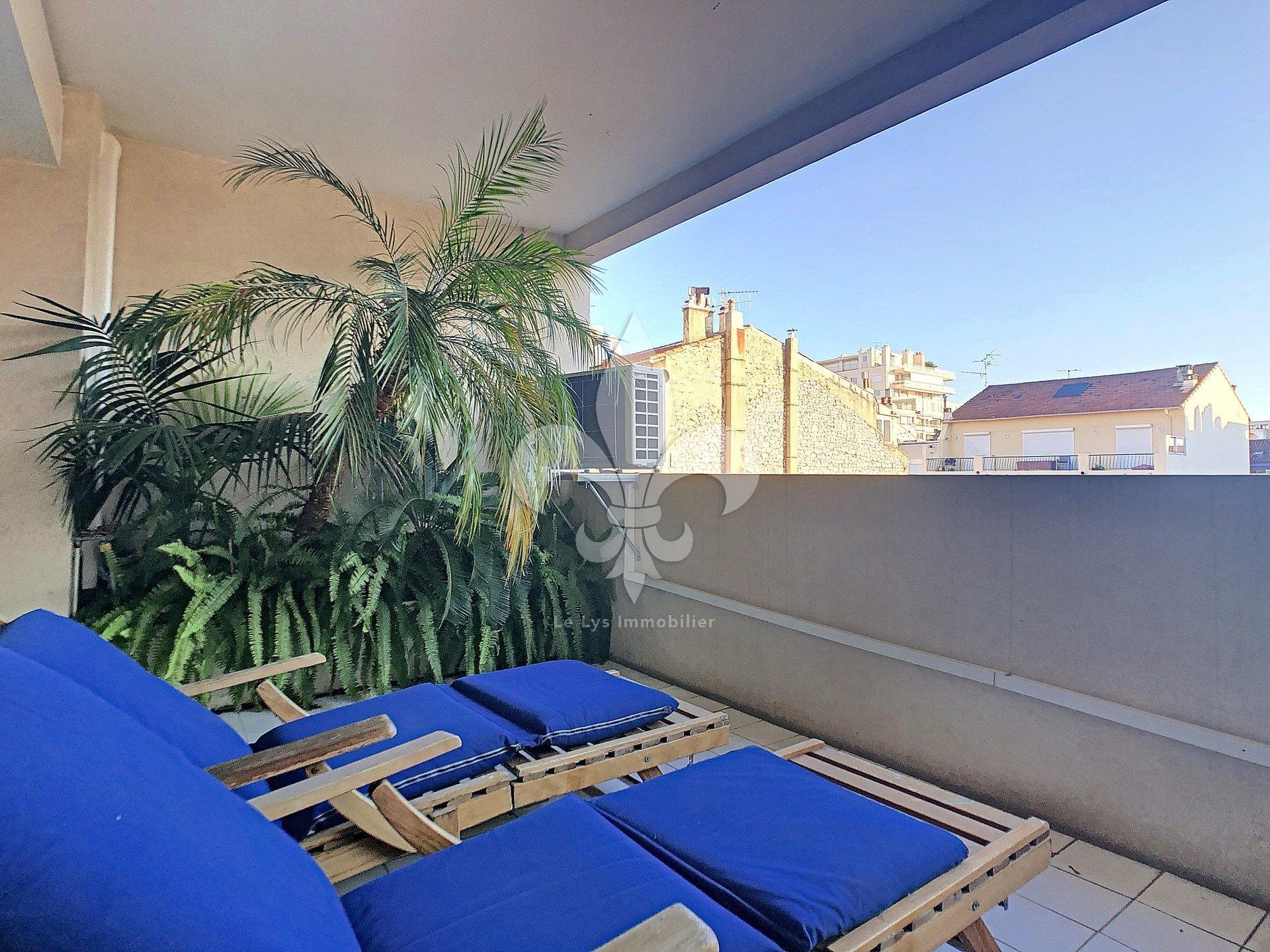 Cannes - rue d'Antibes: 2 rooms with terrace on a high floor