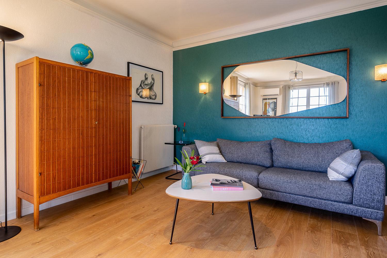 Appartement meublé  Bas de villa au pied des plages