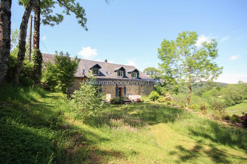 Natural stone farmhouse for sale in the Morvan, near Arleuf