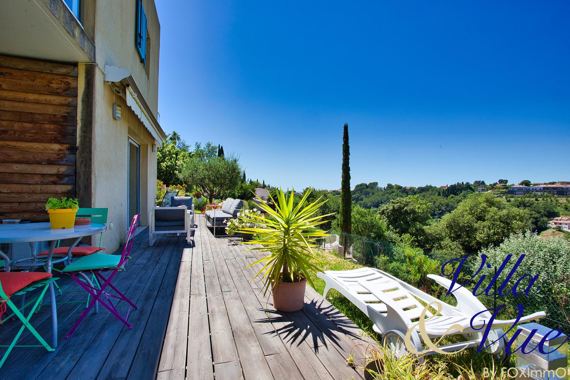 Отдельный дом для продажи, cagnes sur mer, абсолютная тишина, вид на море