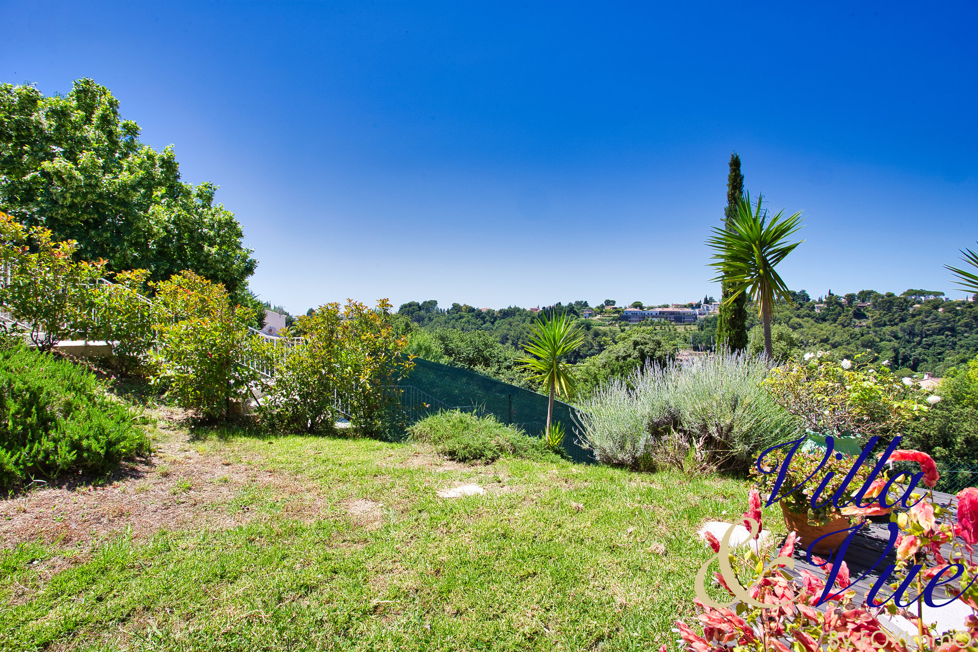 Individual house for sale, cagnes sur mer, absolute quiet, sea view