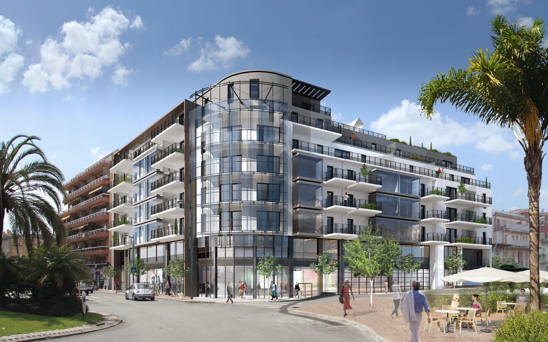 4 pièces neuf au dernier étage avec vaste terrasse – Menton centre