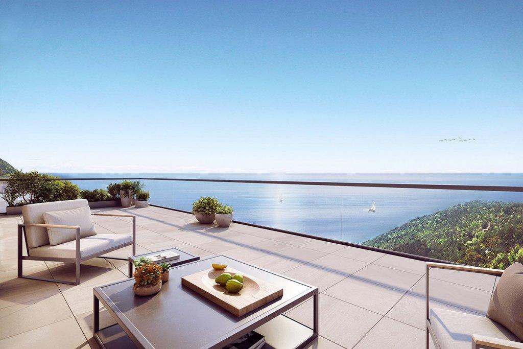 3 pièces luxueux avec grande terrasse et vue mer - Eze