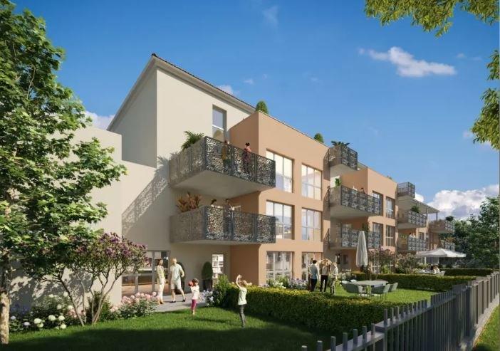 Appartement type 2 avec terrasse  et garage en sous-sol.