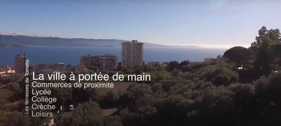 T3 de 82.70 m² vue mer panoramique, Terrasse, Ajaccio-Salario