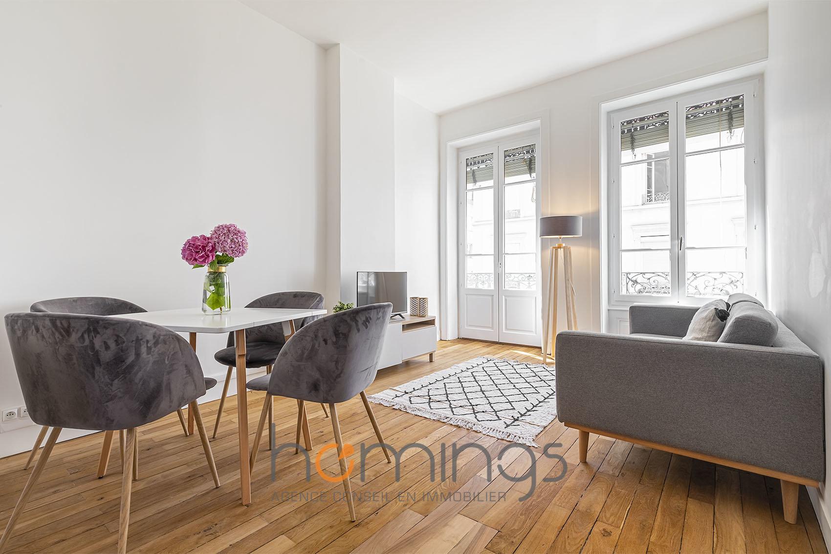 Déjà loué -T2 Meublé avec balcon Rénové aux Brotteaux