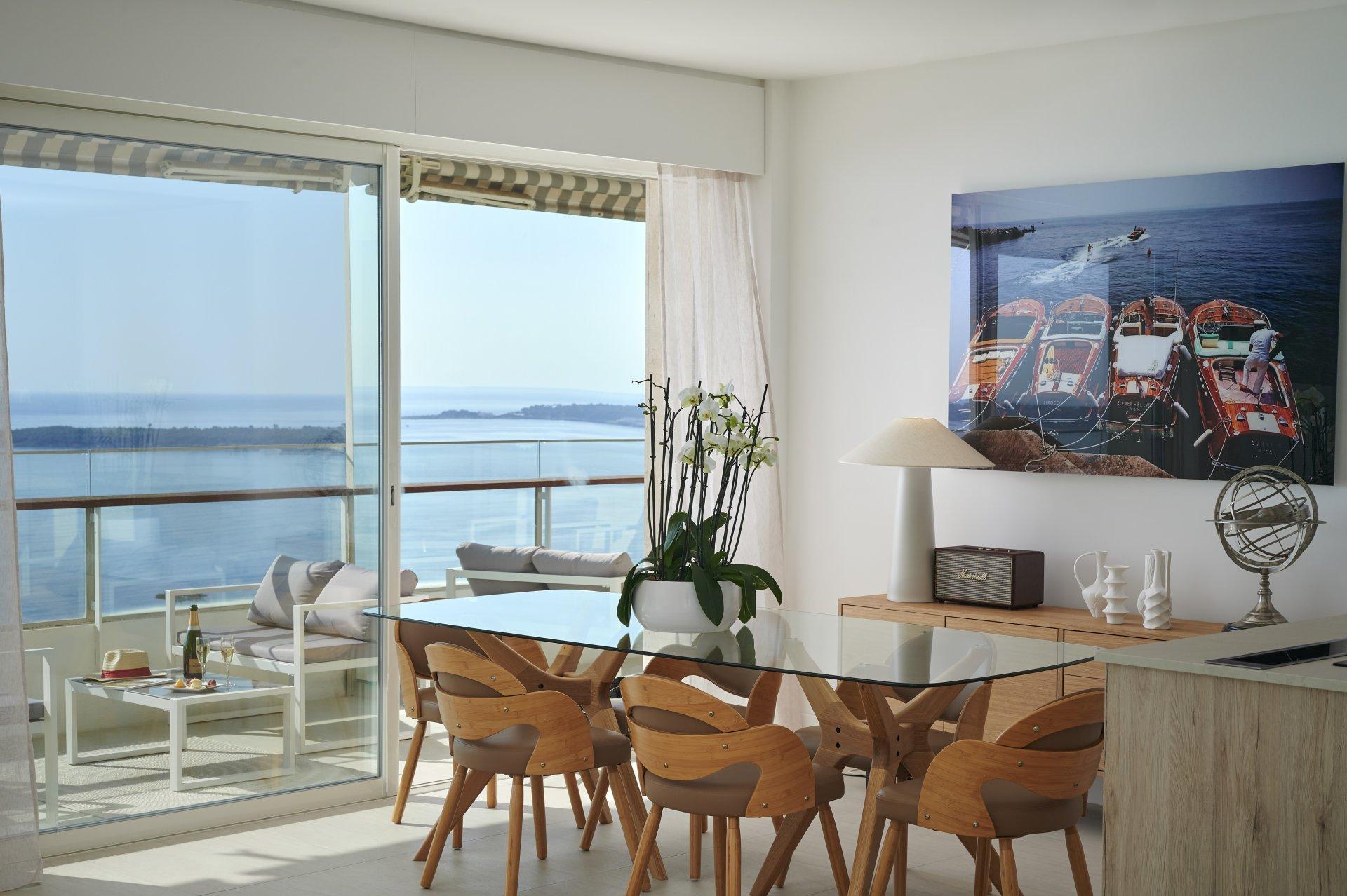 Cannes Californie 4 p high floor panoramic sea view