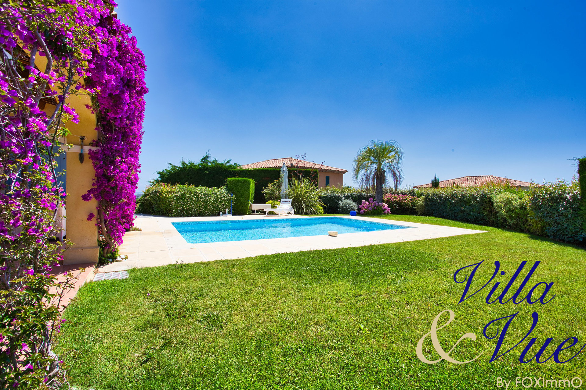 An exclusivity Foximmo, villa sea view, 5P , recent, swimming pool flat garden