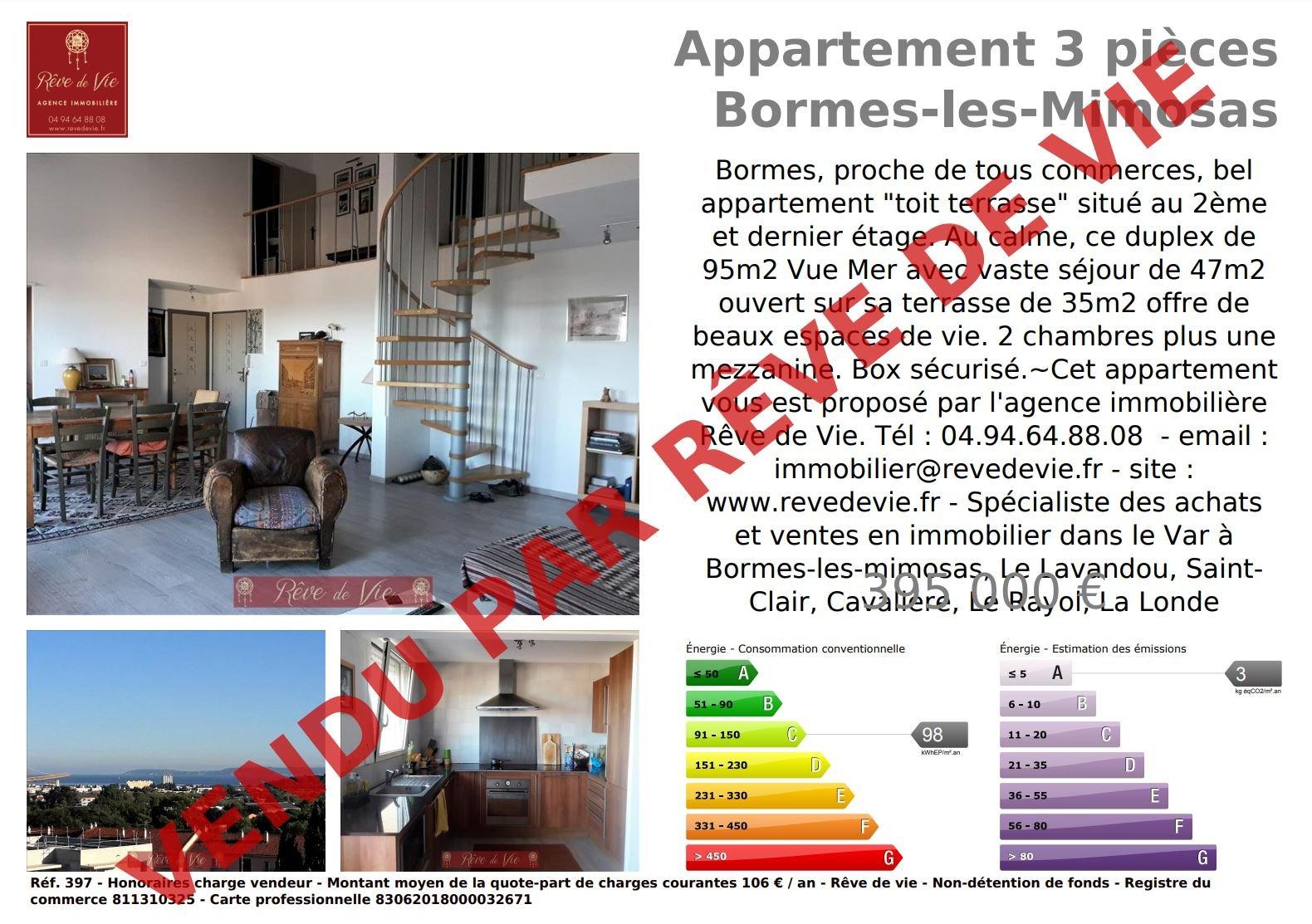 Sale Apartment Bormes-les-Mimosas