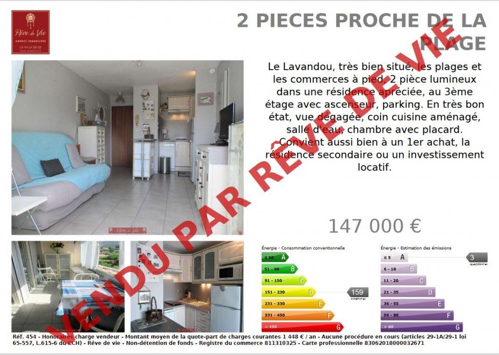 Vente Appartement Le Lavandou