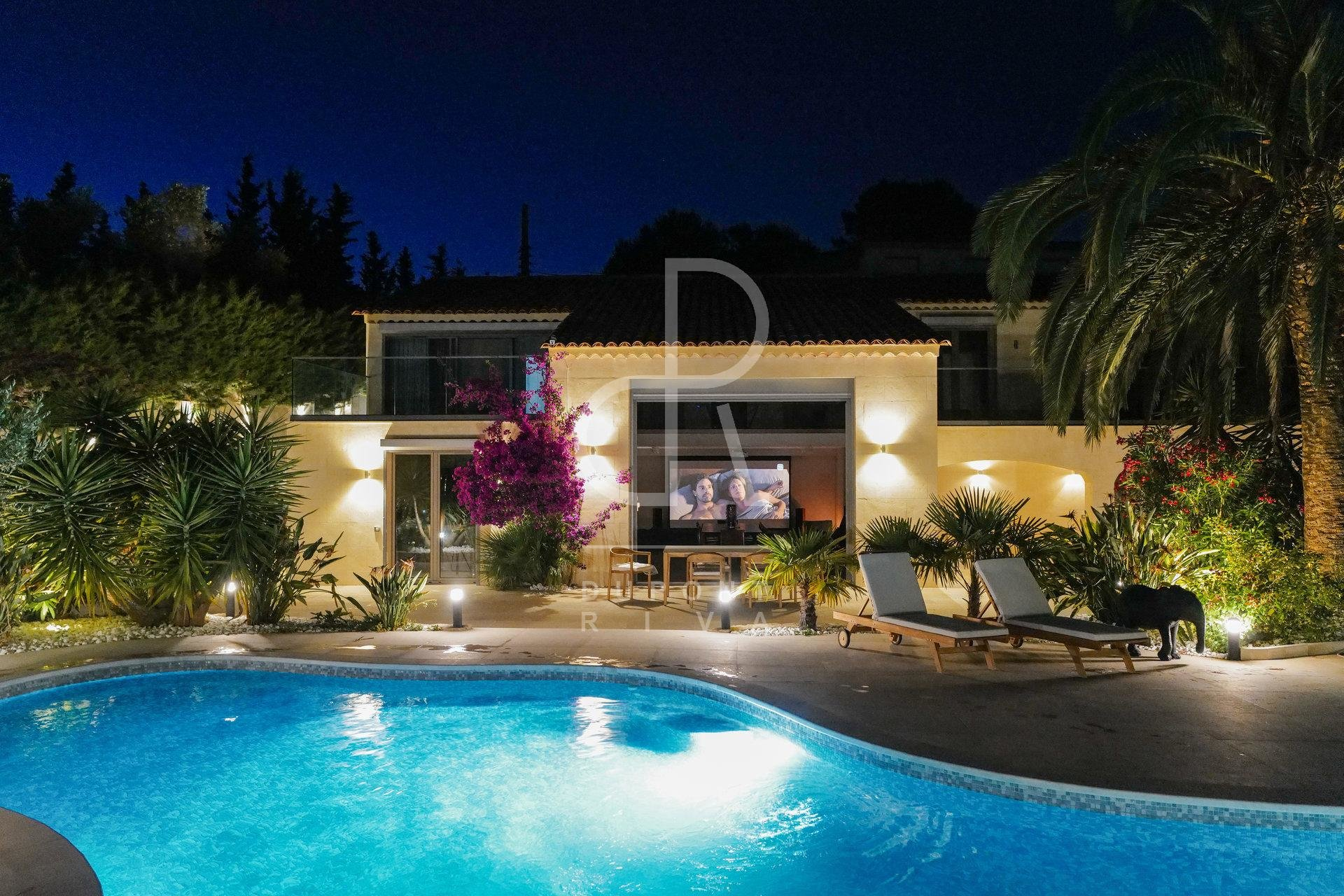 Super  villa in Cannes with swimming pool
