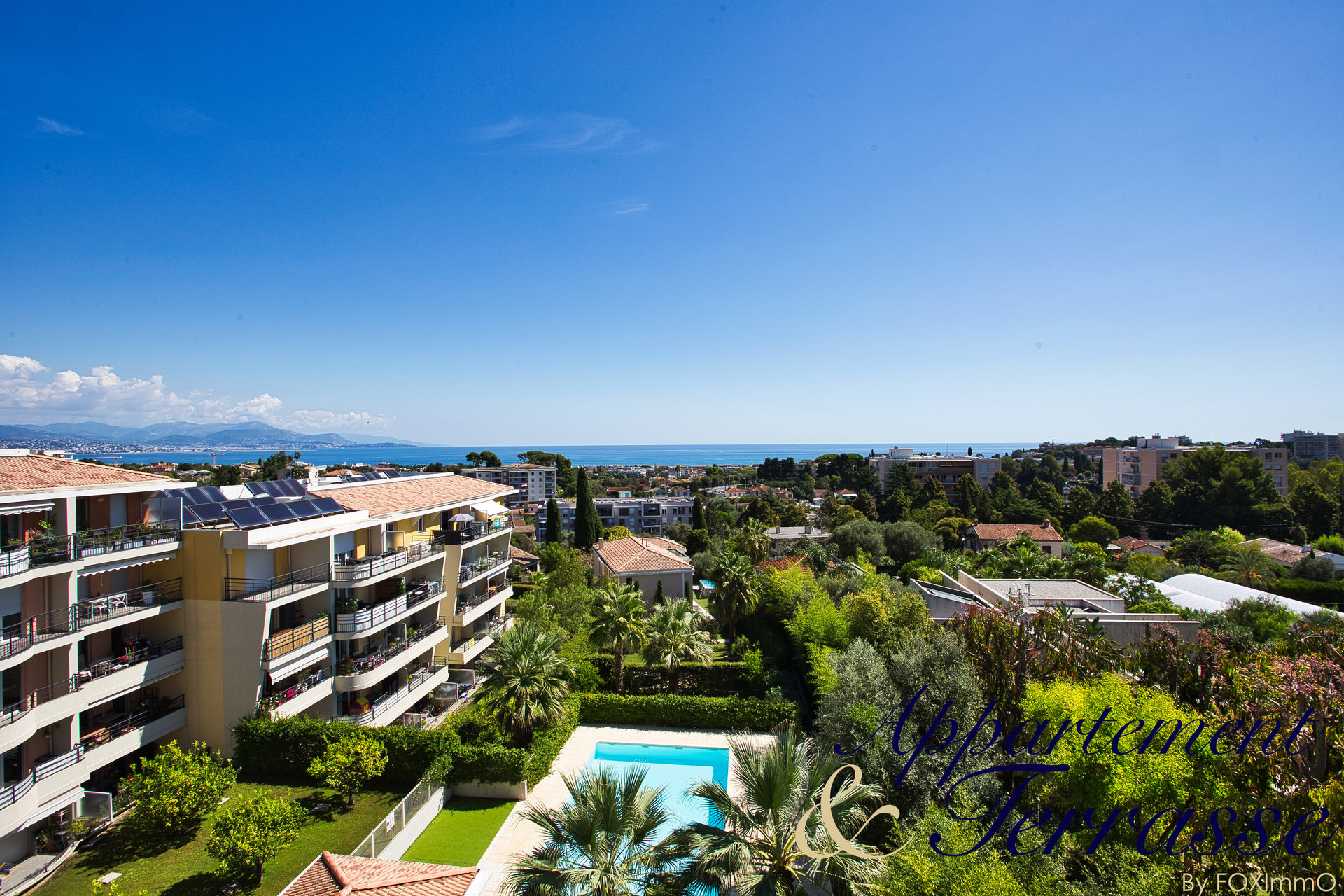 ANTIBES Near Sophia 3-room apartment 64m² panoramic sea view