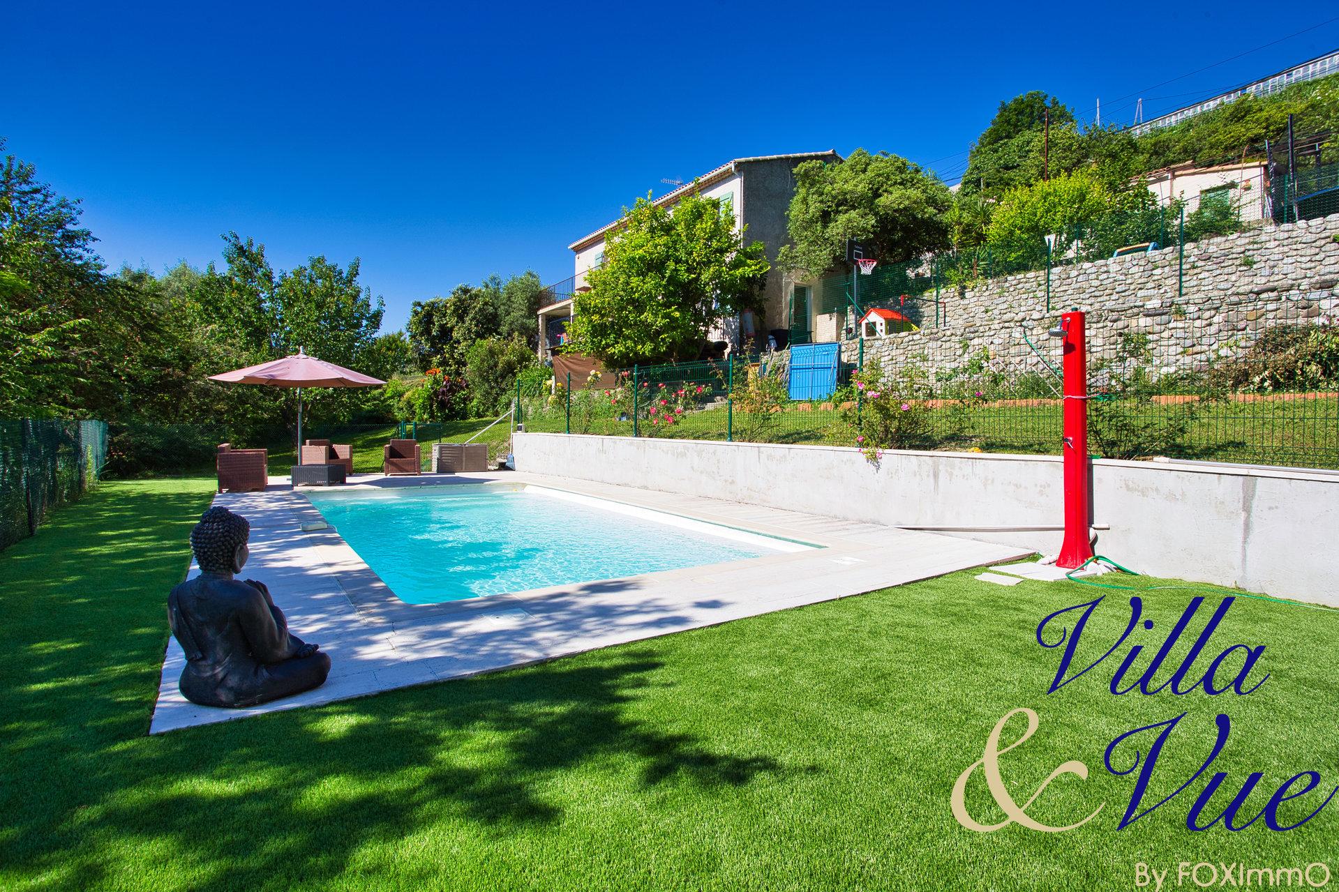 蔚蓝海岸Vence 5卧2卫 2套独立的带泳池别墅