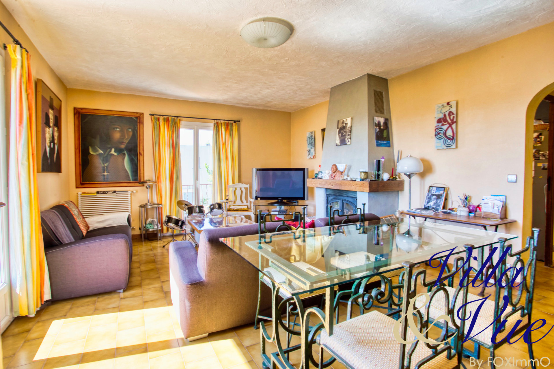 Beautiful house for sale in 2 apartments, Vence/ St Jeannet, sea and mountain views