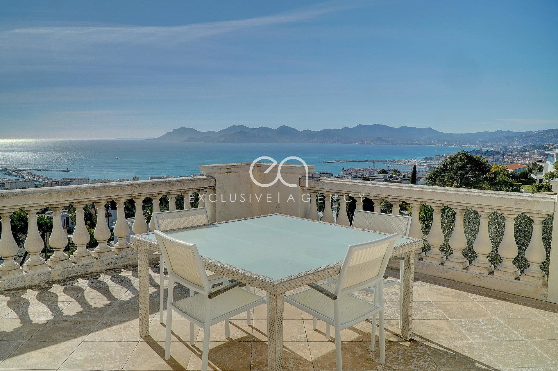 FOR SALE PRIVATE MANSION OF 350SQM IN CANNES CALIFORNIE WITH ENCHANTING SEA VIEW